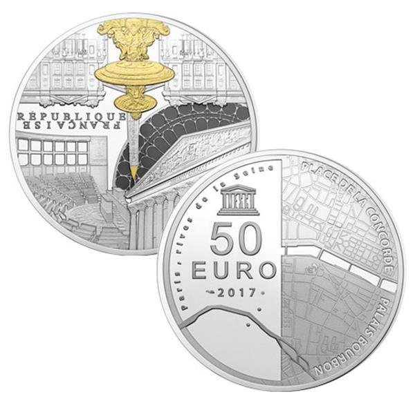 50 euros argent france unesco be 2017 yvert et tellier philat lie et numismatique. Black Bedroom Furniture Sets. Home Design Ideas