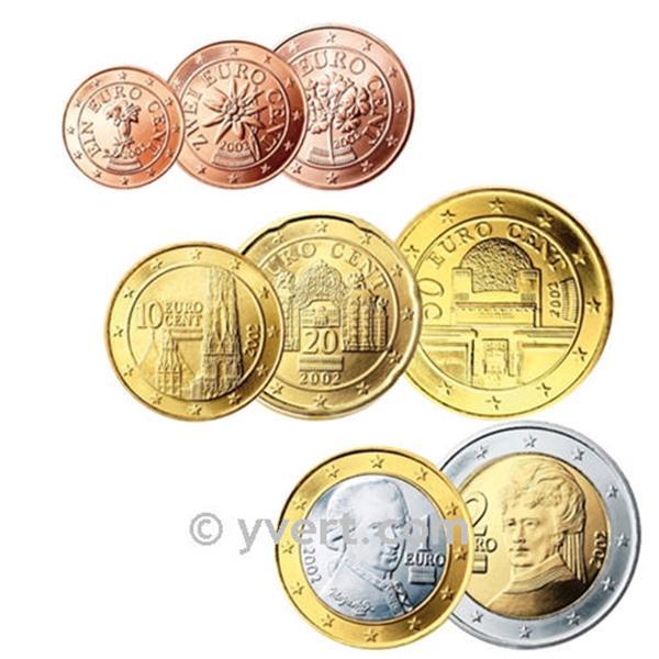 kit euro autriche yvert et tellier philat lie et numismatique. Black Bedroom Furniture Sets. Home Design Ideas
