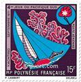 n.o 51 / 54 -  Sello Polinesia Correo aéreo