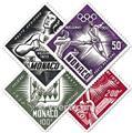 n.o 51 / 54 -  Sello Mónaco Correo aéreo