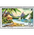 n° 9 -  Selo Polinésia Correio aéreo
