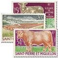 n.o 407/409 -  Sello San Pedro y Miquelón Correos