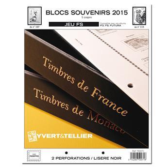 BLOCS SOUVENIRS FS : 2015 (jeux sans pochettes)