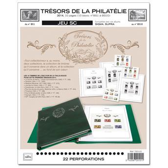 TRÉSORS DE LA PHILATÉLIE : 2014 (juego de hojas con filoestuches)