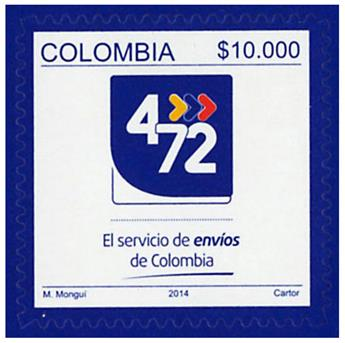 n° 1741 - Timbre COLOMBIE Poste
