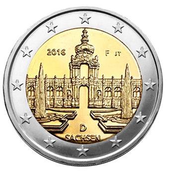 2 EUROS COMMEMORATIFS 2016 : ALLEMAGNE (1 pièce)