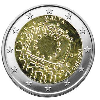 2 EURO COMMEMORATIVE 2015 : MALTE (30E ANNIVERSAIRE DU DRAPEAU EUROPEEN)