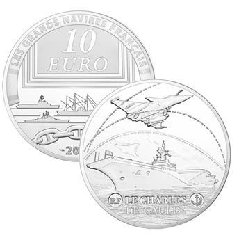 10 EUROS ARGENT - FRANCE - LE CHARLES DE GAULLE