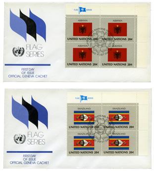 ONU New York drapeaux 1982