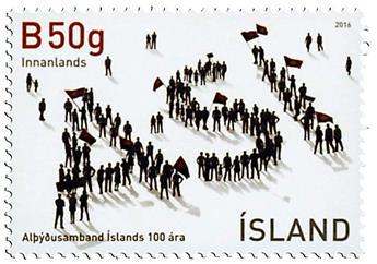 n° 1410 - Timbre ISLANDE Poste