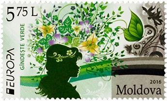 n° 823/824 - Timbre MOLDAVIE Poste (EUROPA)
