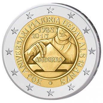 2 EURO COMMEMORATIVE 2015 : ANDORRE (Age majorité 18 ans)