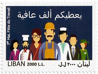 n° 540 - Timbre LIBAN Poste