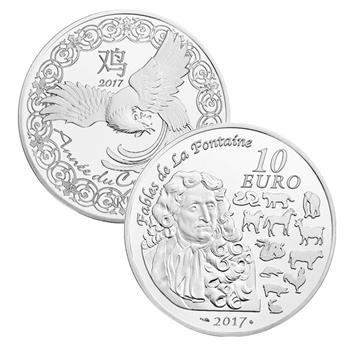 10 EUROS ARGENT - ANNEE DU COQ 2017