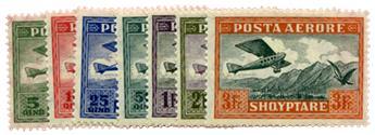 n°1/7* - Timbre Albanie Poste aérienne
