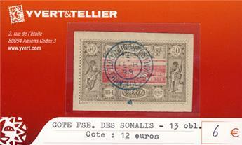 COTE DES SOMALIS - n° 13 Obl.