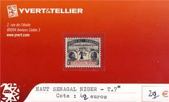 HAUT SENEGAL - NIGER - Taxe n° 7*