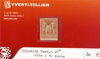 COLONIES FRANCAISES - n° 27*