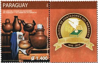 n° 3216 - Timbre PARAGUAY Poste
