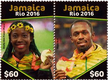 n° 1205 - Timbre JAMAIQUE Poste