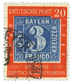 n°77 obl. - Timbre Allemagne (Bizone) Poste
