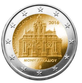 2 EUROS COMMEMORATIFS 2016 : GRECE (Monastère d´Arkadi)