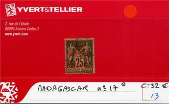 MADAGASCAR  : n° 17 Obl.