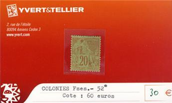 COLONIES FRANCAISES - n° 52*