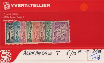 ALEXANDRIE - Taxe n° 6/13*