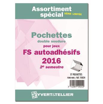 Assortiment de pochettes (double soudure) : 2016-2e sem. (Jeux Autoadhésifs)