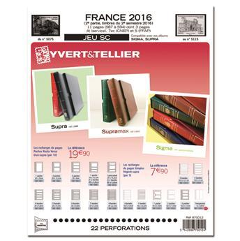 FRANCE SC : 2016 - 2EME SEMESTRE (Jeu avec pochettes)