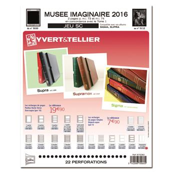 MUSEE IMAGINAIRE SC : 2016 (jeux avec pochettes)