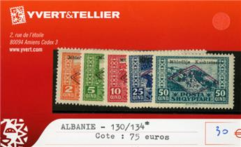 ALBANIE - n° 130/134*