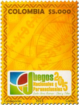 n° 1751 - Timbre COLOMBIE Poste