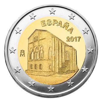 2 EUROS COMMEMORATIFS 2017 : ESPAGNE (Eglise Santa Maria Del Naranco)