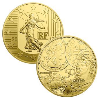 BE : 50 EUROS OR - FRANCE 2017 - SEMEUSE
