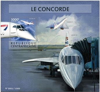 n° 857 - Timbre CENTRAFRICAINE Blocs et feuillets