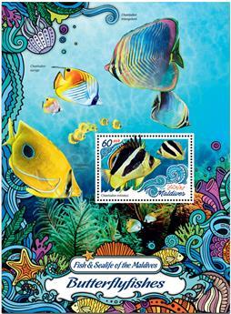 n° 985  : Timbre MALDIVES Blocs et feuillets