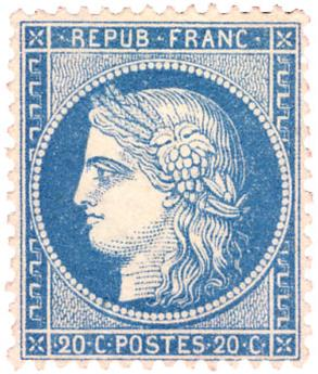 n°37(*) - Timbre France Poste