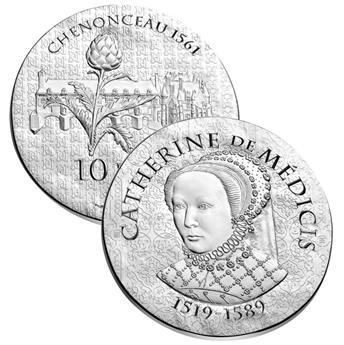 10 EUROS ARGENT - FRANCE - CATHERINE DE MEDICIS
