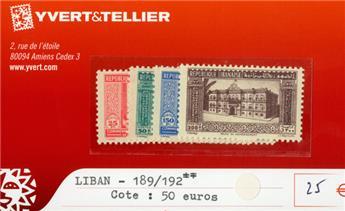 LIBAN - n°189/192**