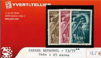 SAHARA ESPAGNOL - n°73/75**