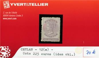 CEYLAN - n°12 (*)