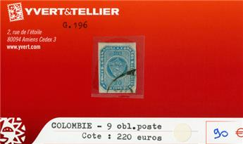 COLOMBIE - n°9 obl.poste