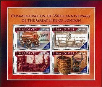 n° 5532 - Timbre MALDIVES Poste