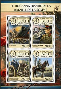n° 1344 - Timbre DJIBOUTI Poste