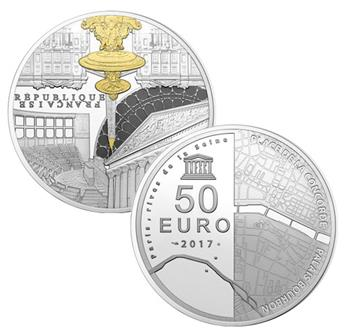 50 EUROS ARGENT - FRANCE - UNESCO BE 2017