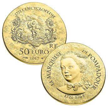 50 EUROS OR - FRANCE - MARQUISE DE POMPADOUR