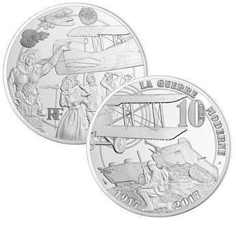 10 EUROS ARGENT - FRANCE - GRANDE GUERRE 14-18 - 2017