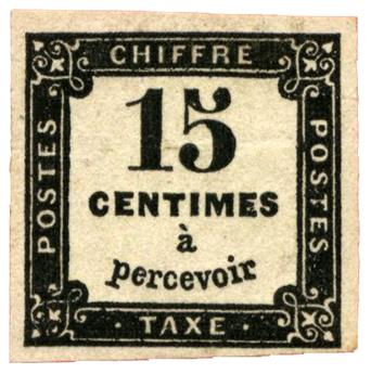 n°3** - Timbre FRANCE Taxe